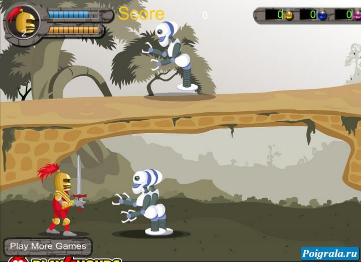 Картинка к игре Рыцарь против роботов