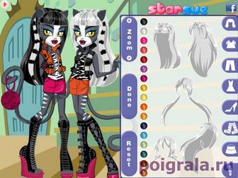 Картинка к игре Сестры кошки одевалка