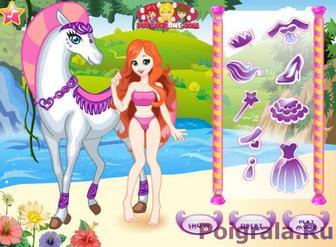Картинка к игре Принцесса на лошади