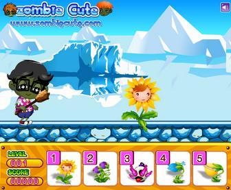 Игра Мальчик зомби против растений