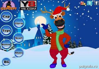 Картинка к игре Новогодняя одевалка оленя