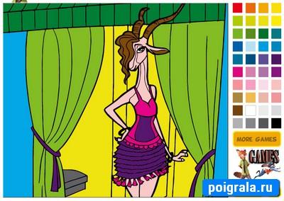 Игра Зверополис раскраска антилопы